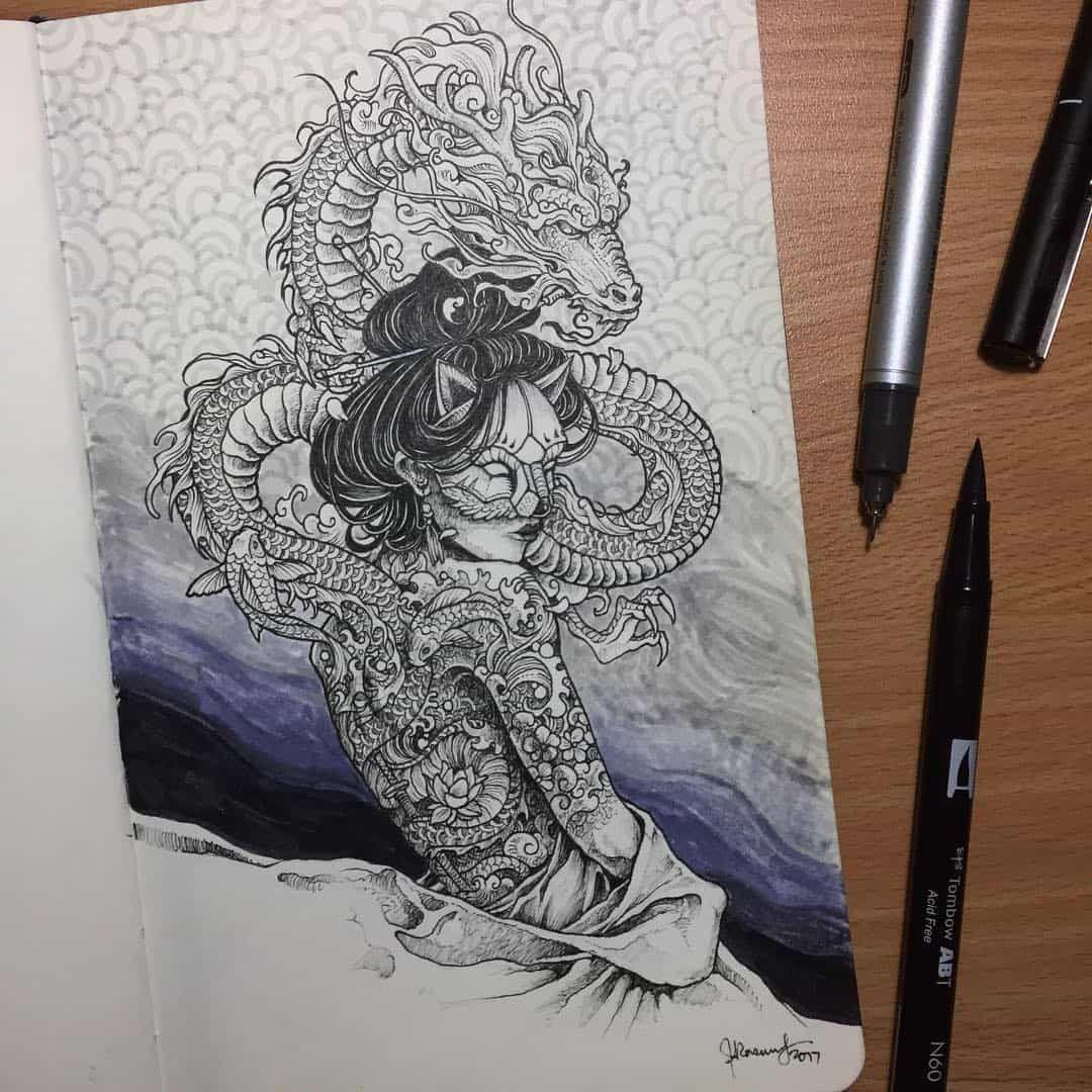 Illustrator kerby rosanes drawing artwoonz book art