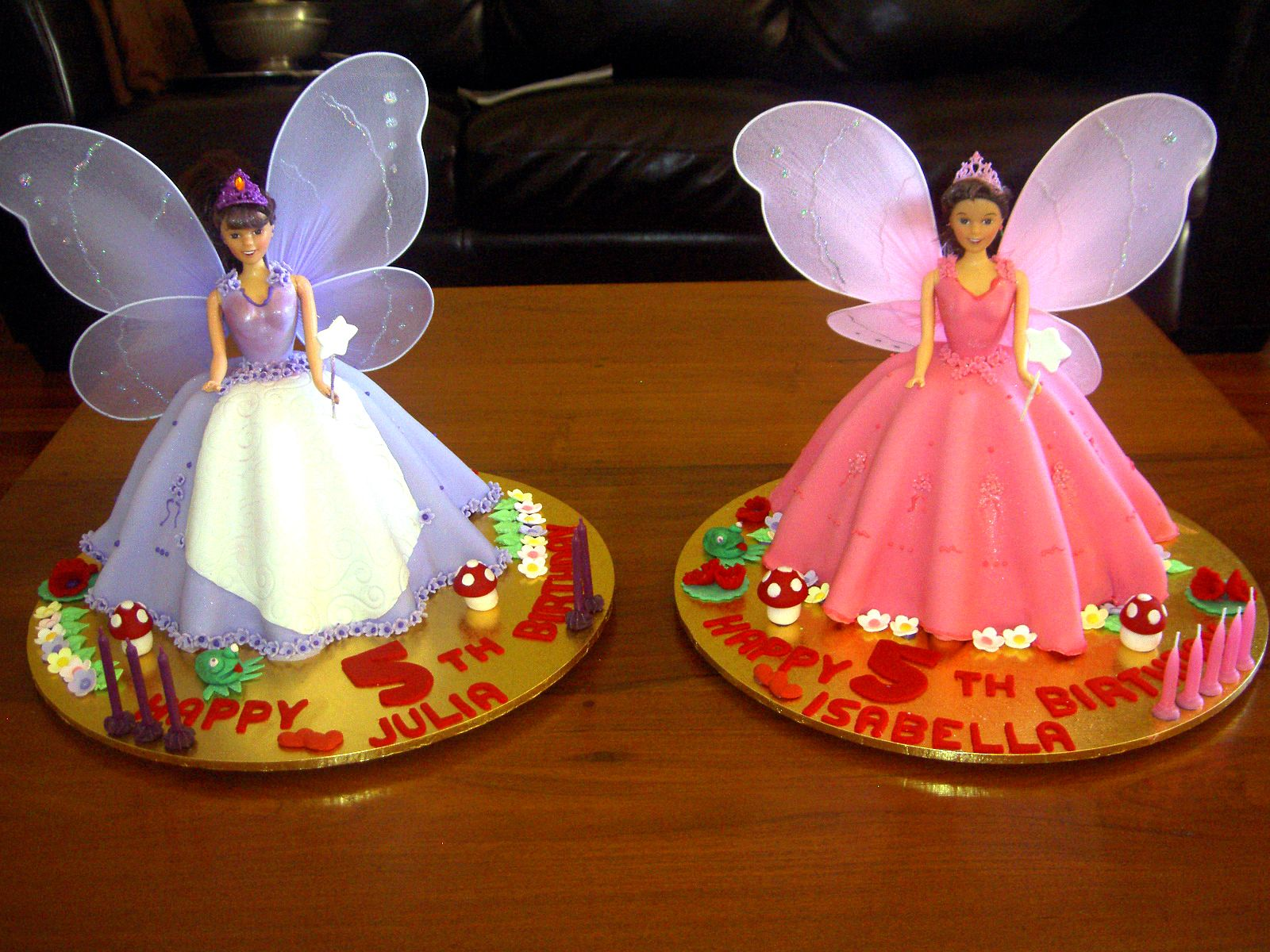 This was an order for twin girls!  They are just as beautiful as these delicious beauties!