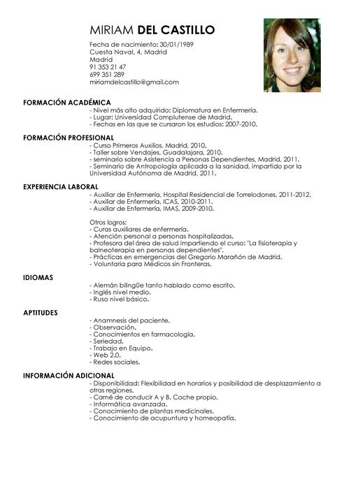 Ejemplo De Currículum Vítae Para Auxiliar De Enfermero Modelos De Curriculum Vitae Ejemplos De Curriculum Vitae Curriculum Vitae