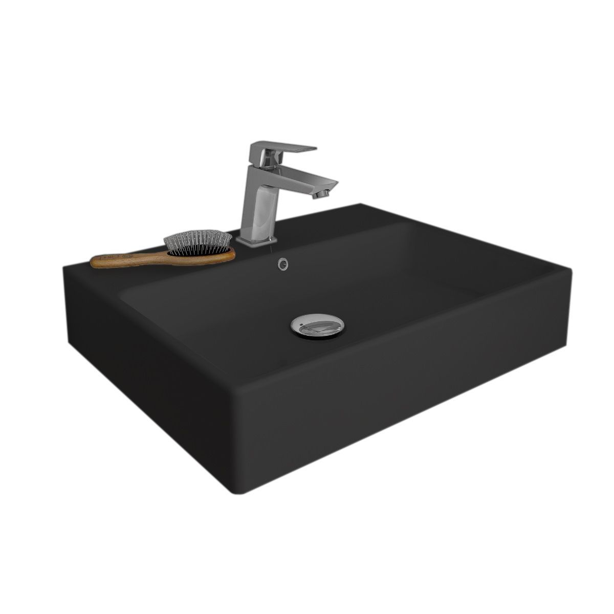 Ws Bath Collections Simple 60a Ada Compliant Wall Mounted Vessel Bathroom Sink In Ceramic White Or Black 23 6 Sink Ceramic Bathroom Sink Modern Bathroom Sink