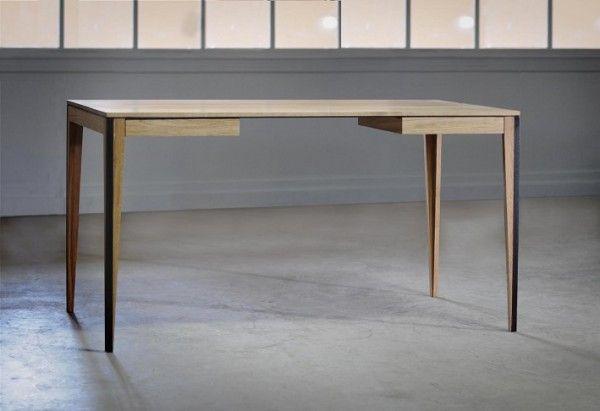 Table et bureau bois et acier bois et béton bureau bois
