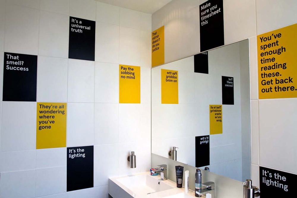 Cute Office Bathroom For Creative Content Agency Evidently
