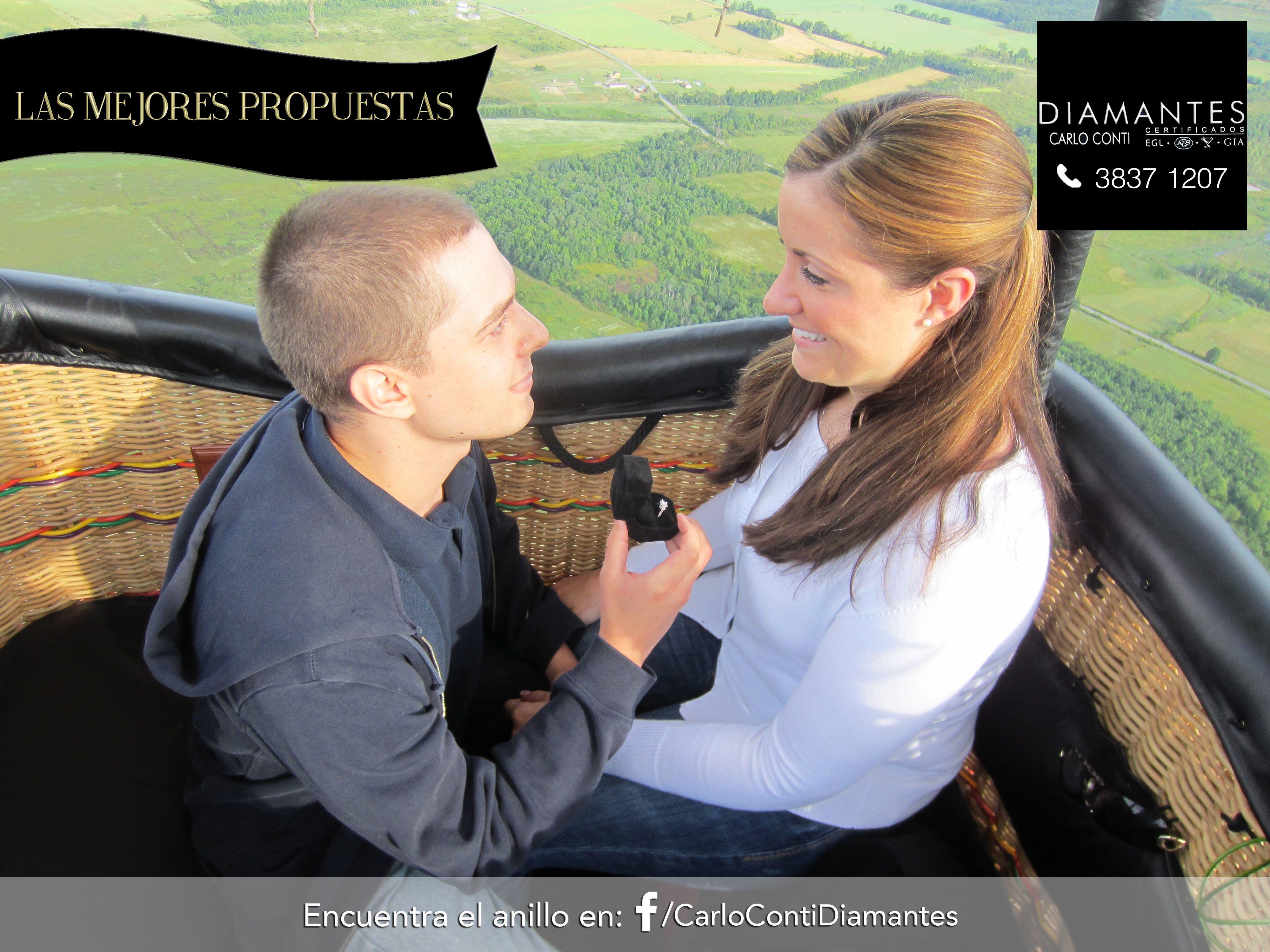 Porque el #amor está en el aire, pídele  #matrimonio en un #viaje en #globo aerostático. ¡Nuestro anillo ideal en nuestra página de Facebook! #LasMejoresPropuestas #GDL #CarloConti #GaleríaJoyera