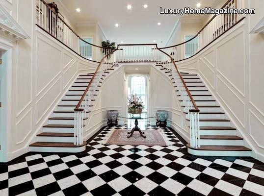 luxurious and splendid elegant stairs design. Twin Home Staircase  OMG this is exactly what I want Thank