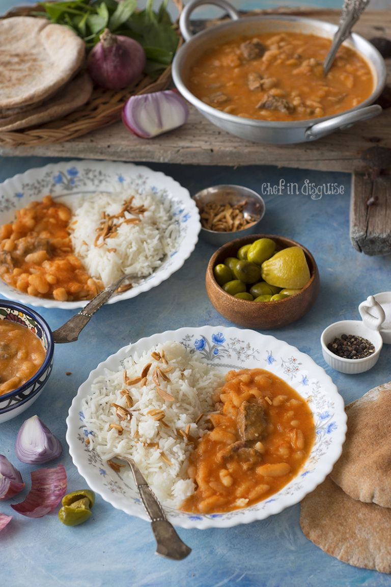 Middle Eastern White Bean Stew Fasoolia Baida Middle Eastern Recipes Arabic Food Middle East Recipes Middle East Food