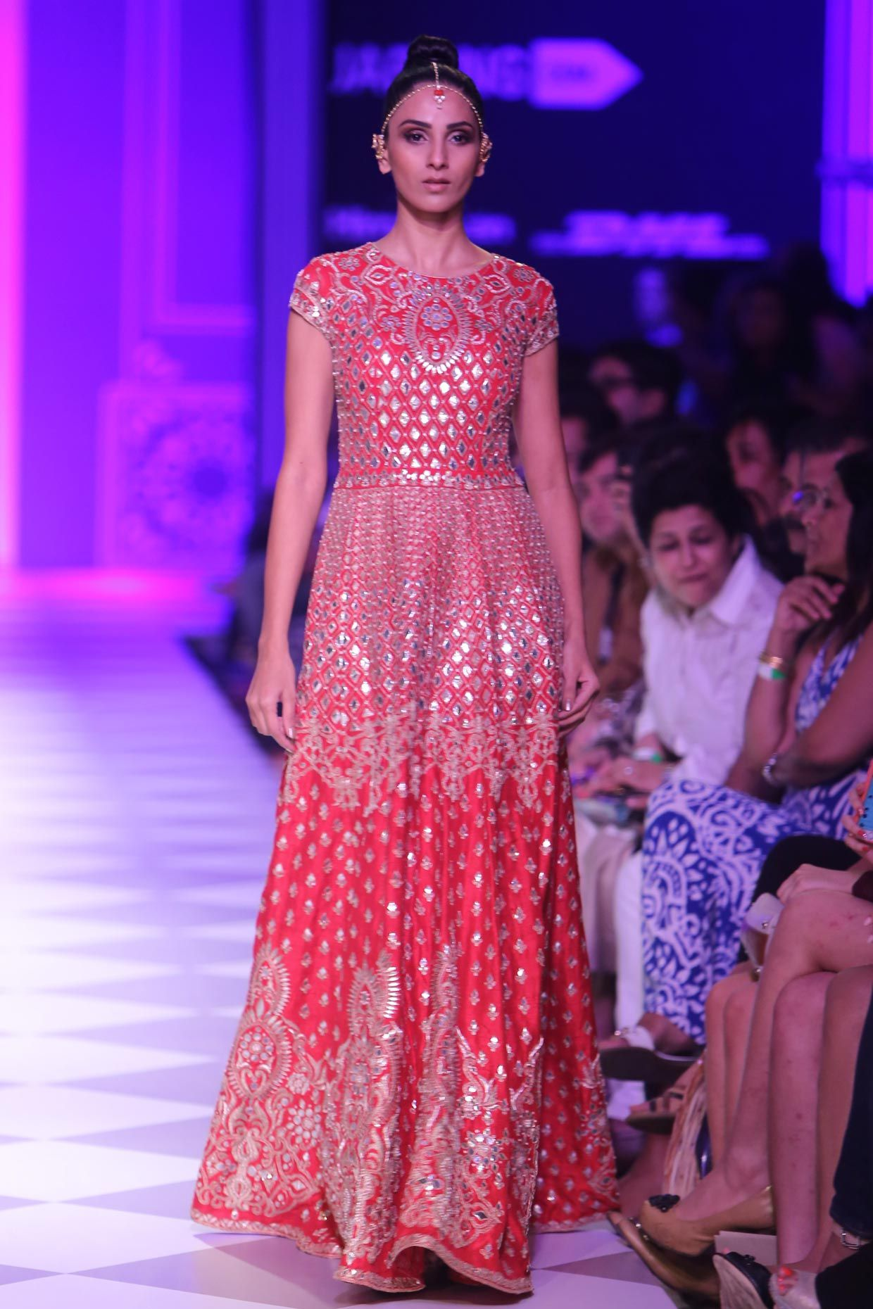 Red gota patti embroidered gown. And that\'s why we love Anita Dongre ...