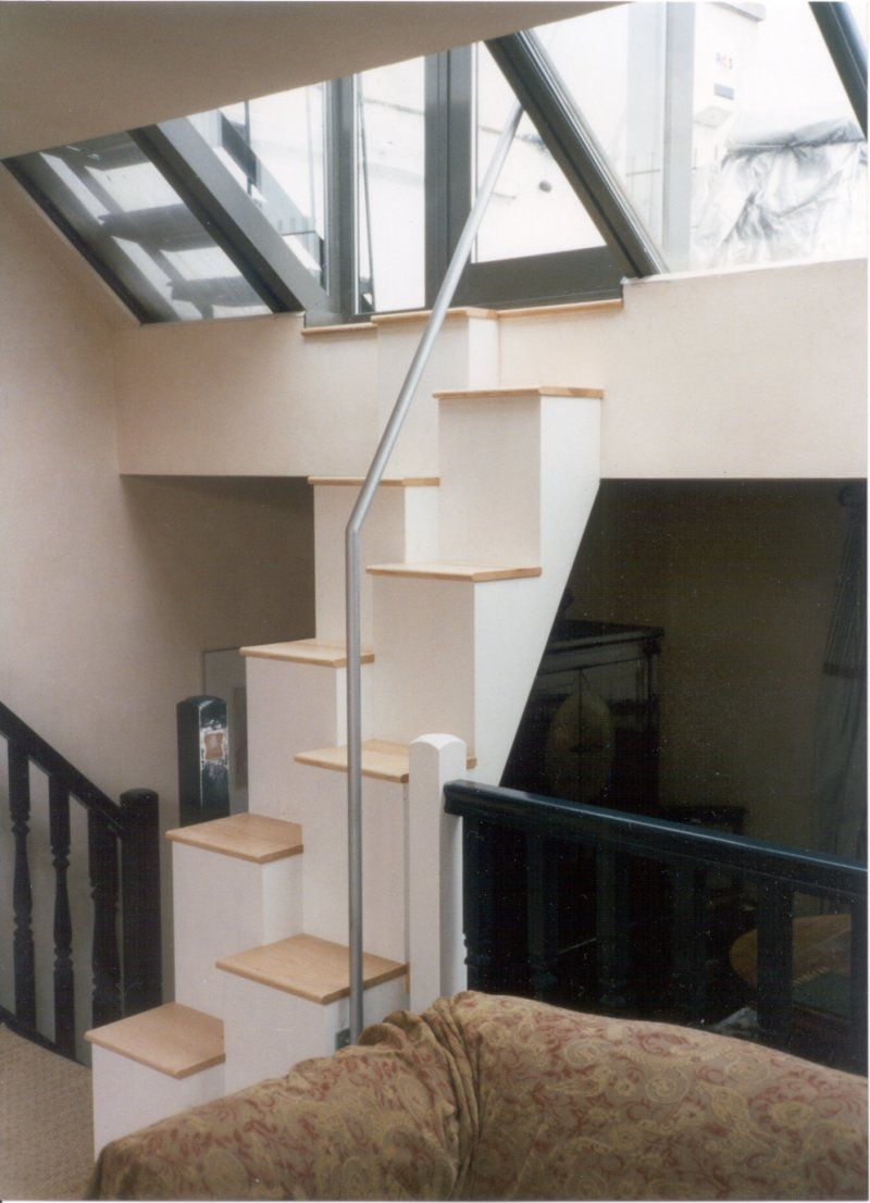 Furniture and accessories uniquely awesome loft space - Space saving stair design ...
