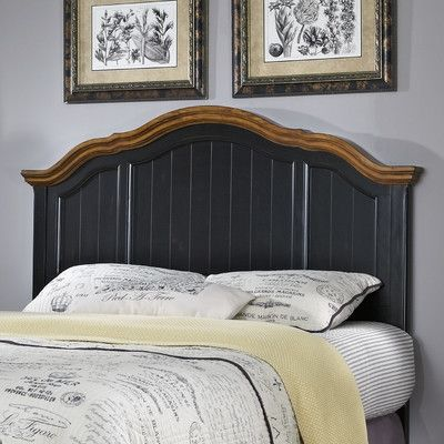 French Countryside Panel Headboard Size: Full / Queen, Finish: Black $414.99 by Wayfair