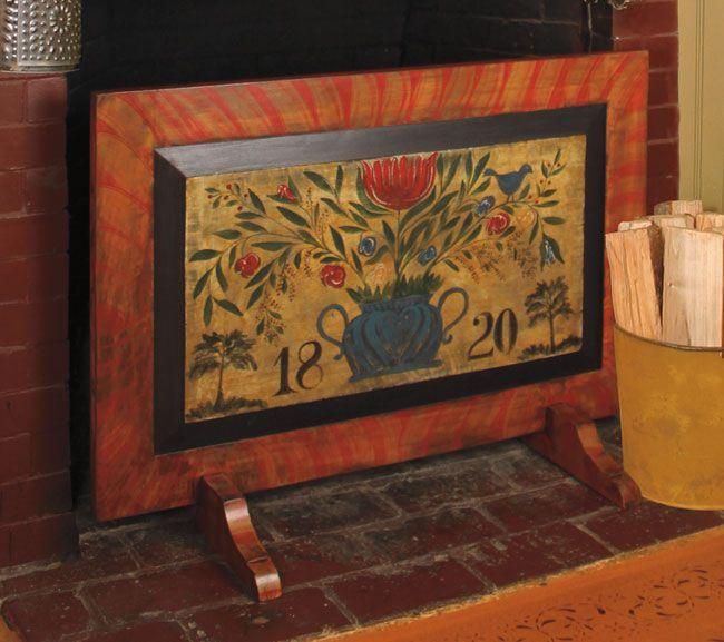 ** Circa Home Living **  Hand-painted Urn Design Fireboard