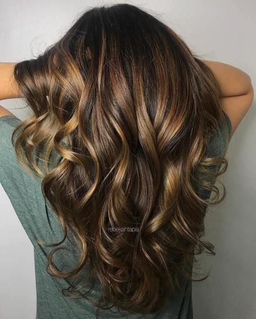 60 Frisuren mit dunkelbraunem Haar mit Highlights #brownhaircolors