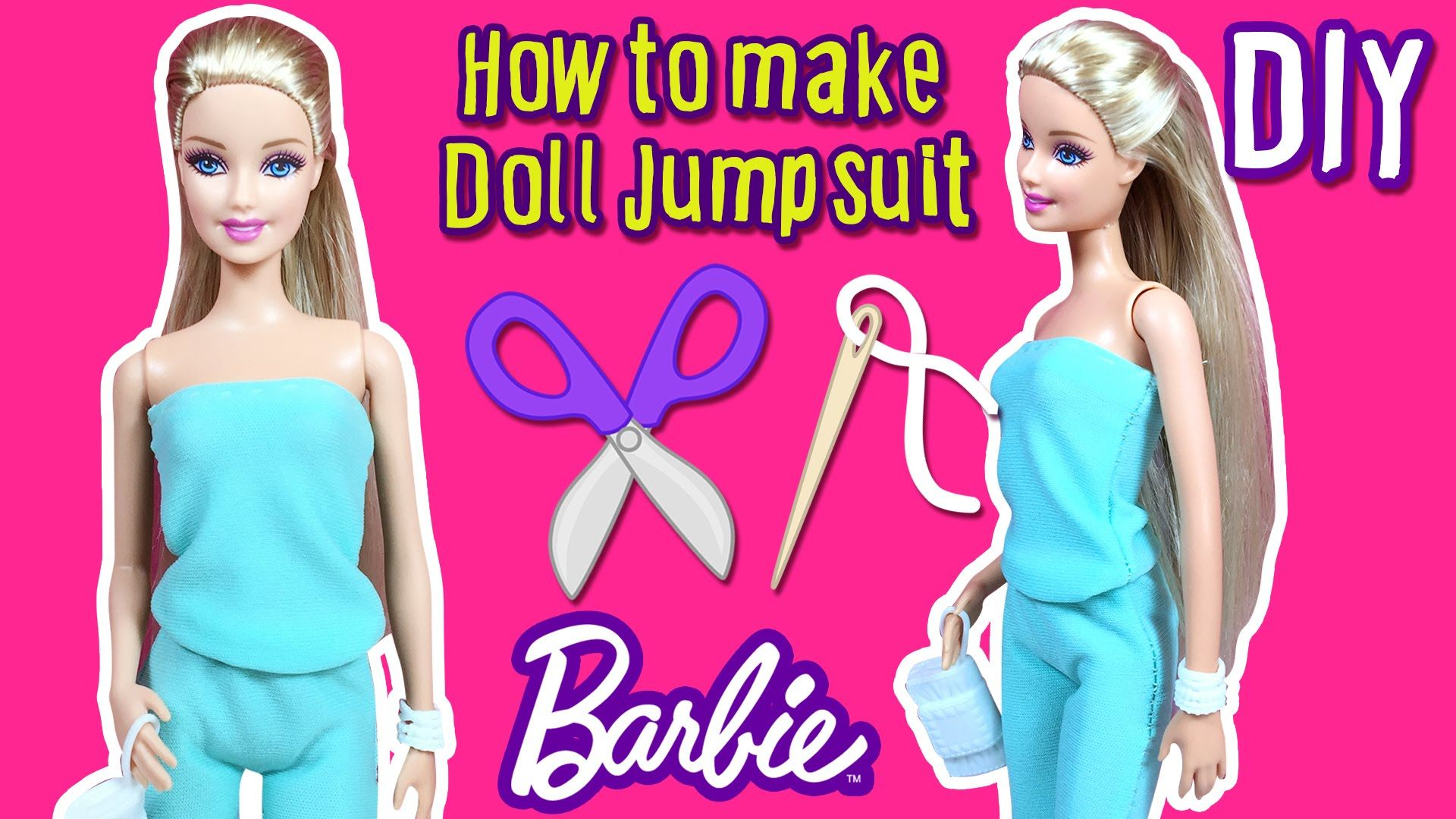 Diy How To Make Barbie Doll Jumpsuit Doll Clothes Tutorial Diy