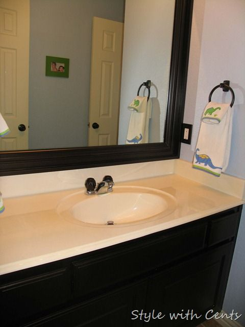 Oil Rubbed Bronze Spray Paint   Vanity And All Bathroom Fixtures, Build  Frame For Mirror
