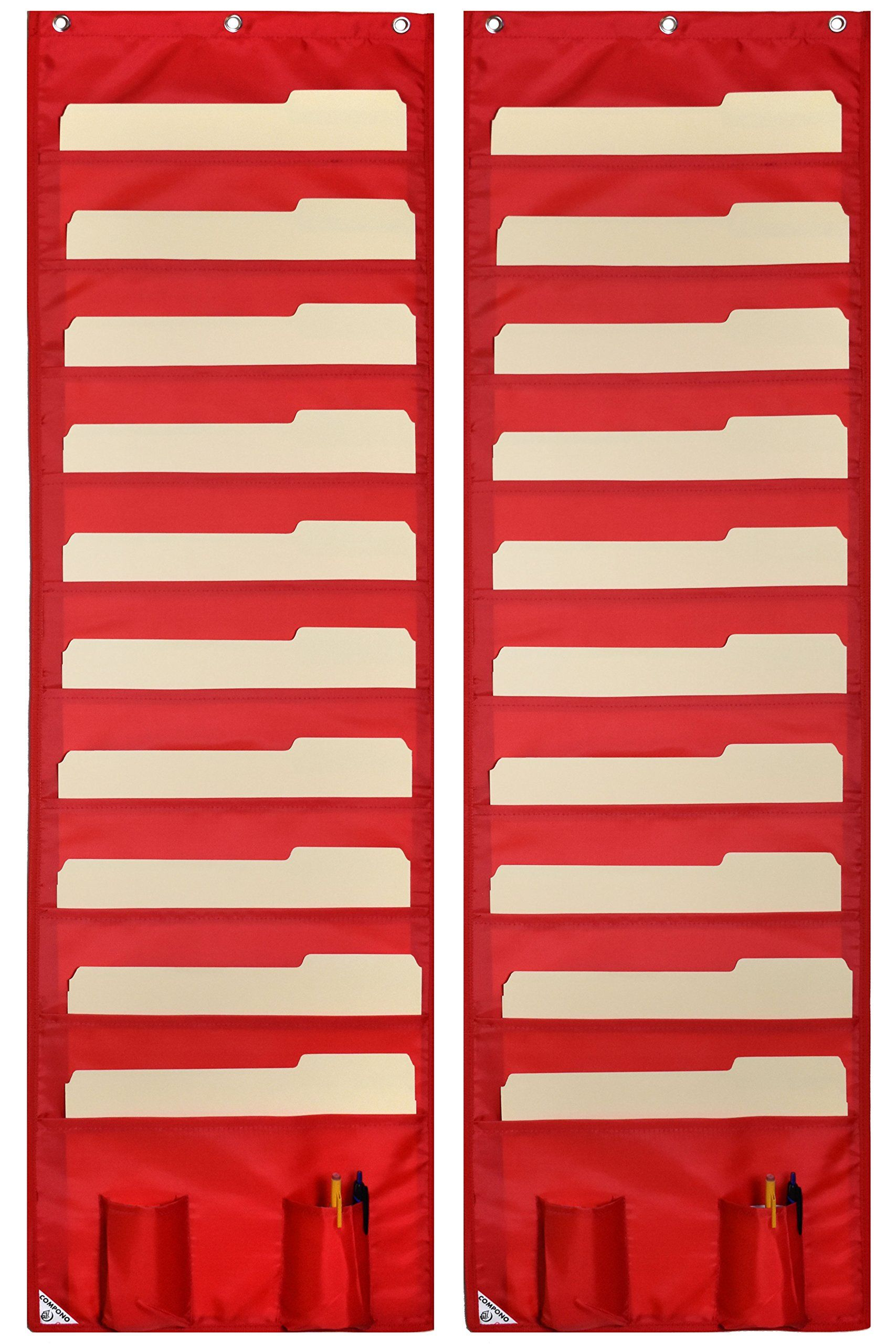 Classroom supplies for teachers school products wall pocket chart organizer red also storage charts pack file organizers best rh pinterest