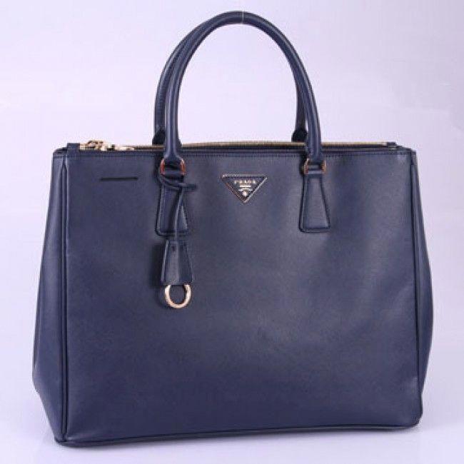 17e29bf3ed9757 PRADA GALLERIA LARGE BAG IN SAFFIANO CALF LEATHER ROYAL BLUE BN1802 (SKU:  #692388 ) #Pradahandbags