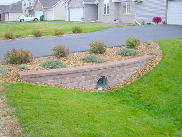Culvert landscaping pinteres for Drain pipe landscaping