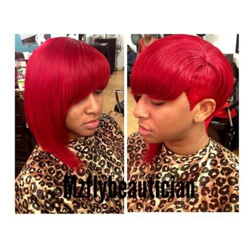 precolored remy human hair red straight  long to short