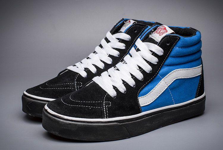 1f56039207 Vans SK8-Hi Navy Blue Black Skate Shoes  Vans
