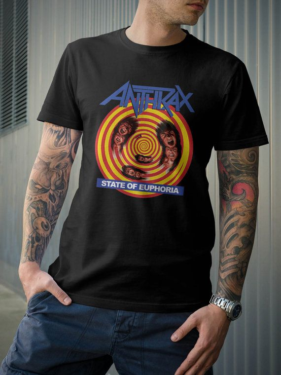 b7ff1f4ec Anthrax State of Euphoria Rock Band Tour Album T-Shirt by 21street ...