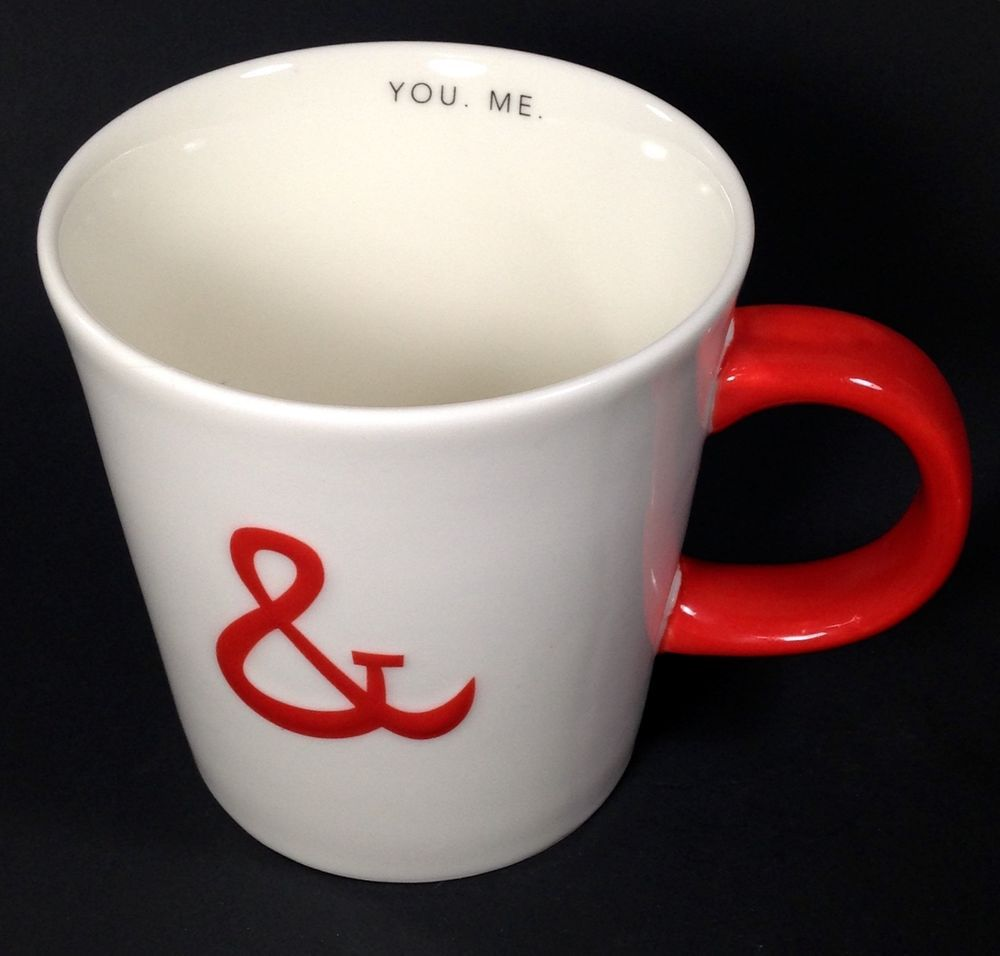 Starbucks You Me Ampersand Red White Coffee Mug Cup Friends Valentines