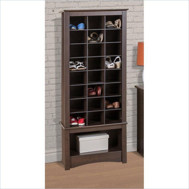 Superieur Prepac Tall Shoe Cubbie Cabinet In Espresso   EUSR 0008 1
