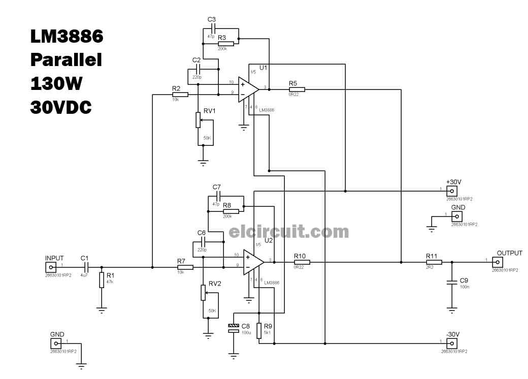 200 watt power amplifier stk4050 8211 stk4046 new model wiring diagram