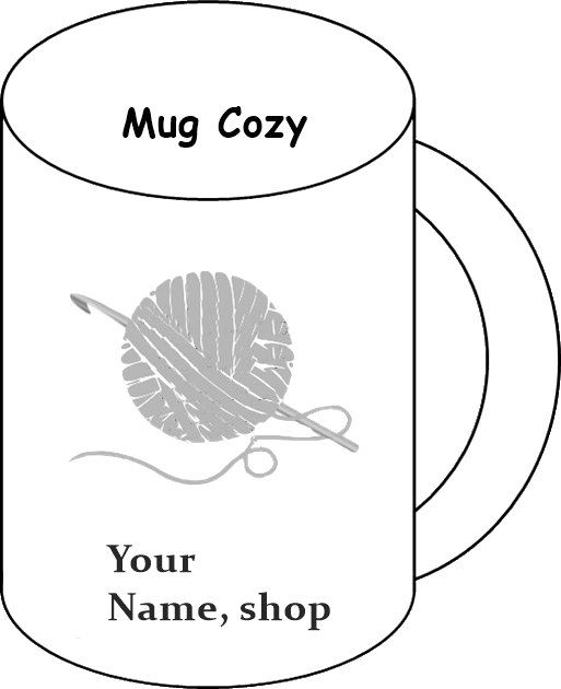 Coffee Mug Cozy Inserts To Go Sleeves Holders Made Order Cup Insert Template Handmade 12 Pieces By
