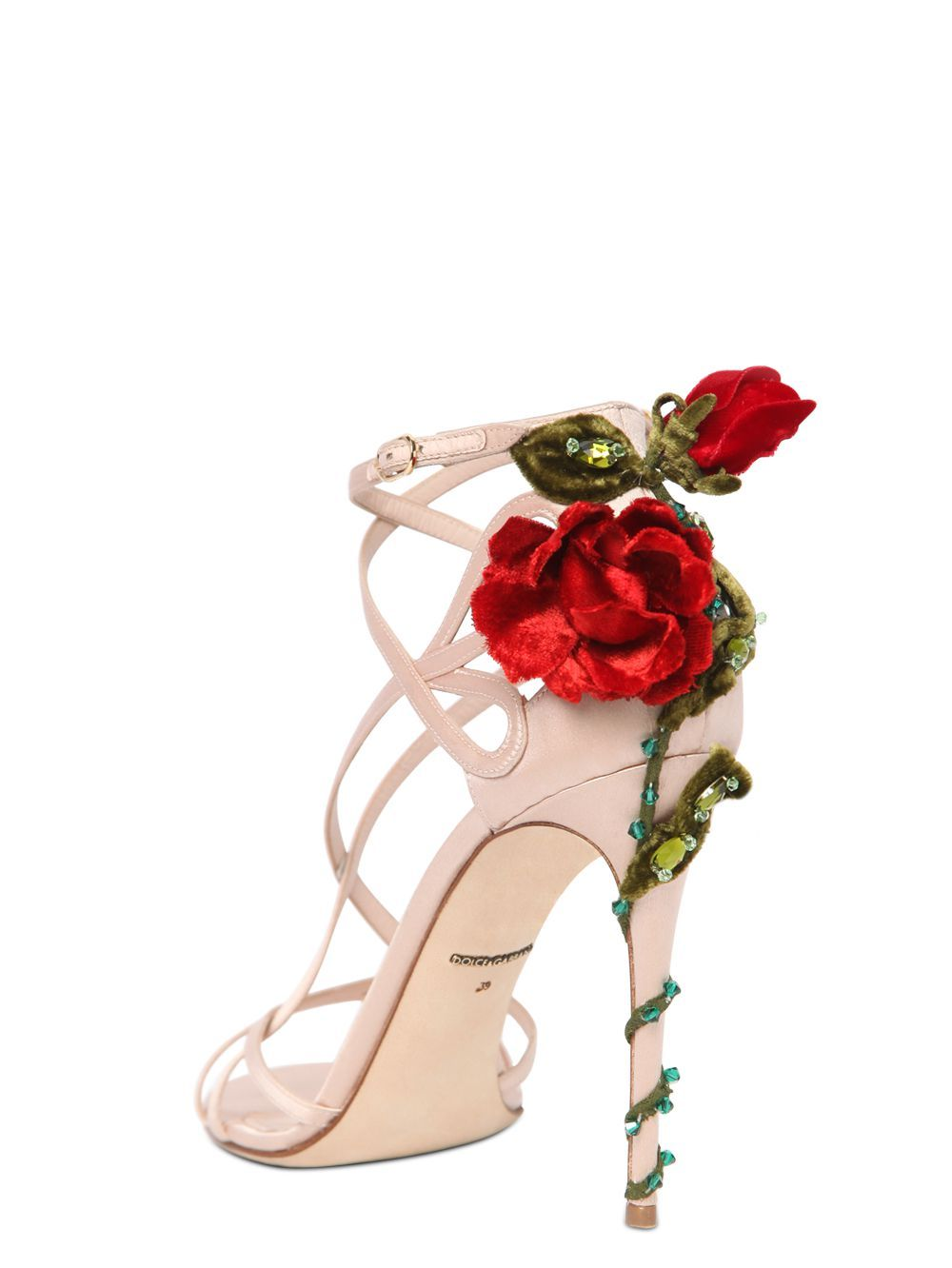 Shoelust Beaded Shoes Rosette Shoes Beaded Sandals