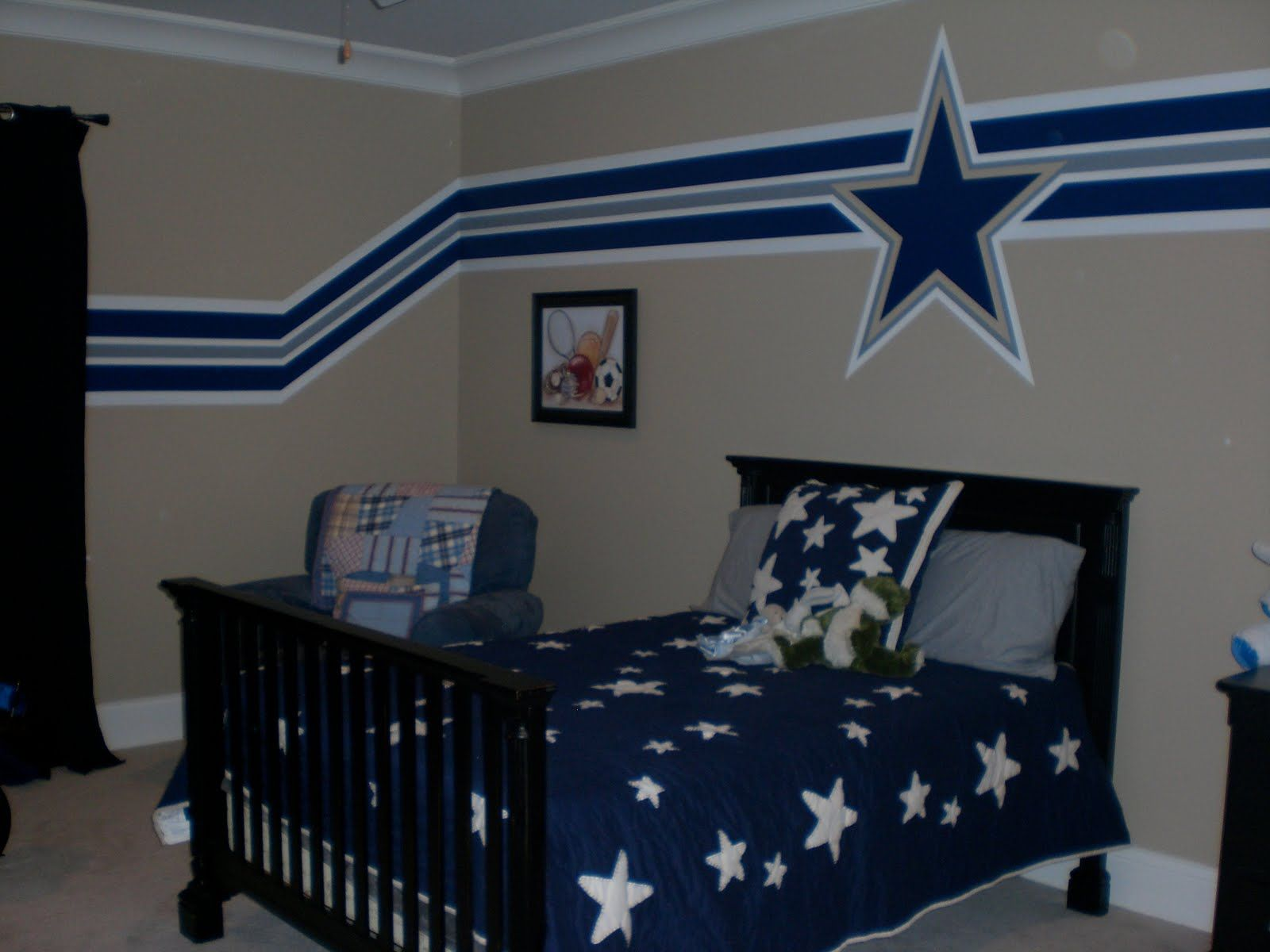 Bedroom wall paint ideas for boys - 3 Paint Ideas For Boys Room Sports With Dallas Cowboys Edition
