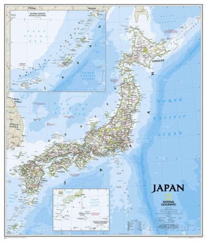 National geographic japan map poster national geographic and japan national geographic japan map poster prints by national geographic allposters gumiabroncs Images