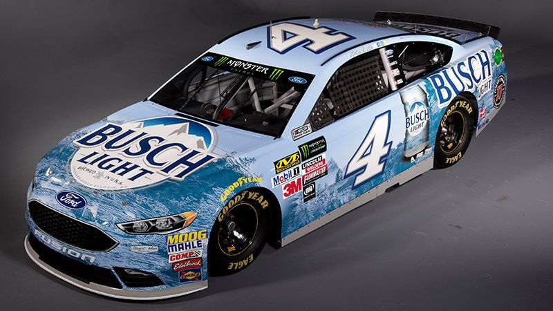 Kevin Harvick S 2018 Nascar Ford Is Now 40 Beer Cans Nascar