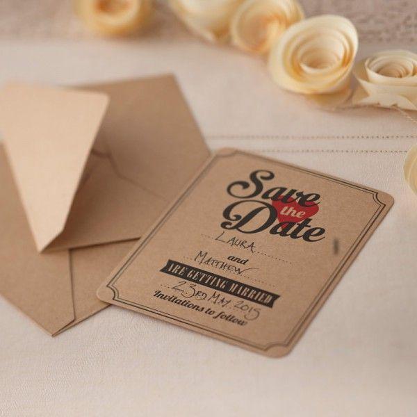 Save The Date Karten · KraftpapierKarten HochzeitDrucksachenEinladungskarten EinladungenHochzeitenSchnellProjekteEinfach