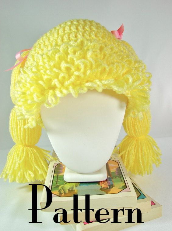 Crochet Pattern Cabbage Patch Hat Cabbage Patch Hat Pattern