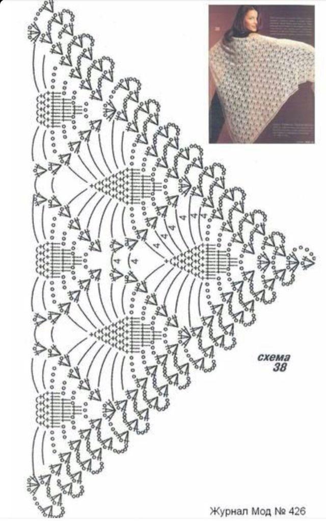 Pin von Martha Salazar auf Crochet shawl,ponchos,,wrap,shrug ...