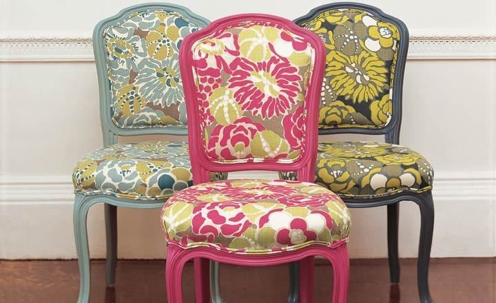 Romo Fabric, Upholstered Chairs, So Cute!