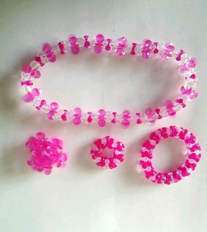 Girls Pink Jewelry Play set
