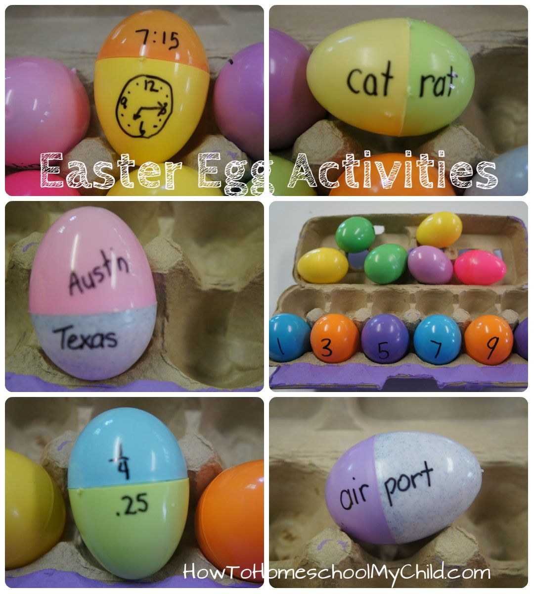 Learning Games With Kids Plastic Easter Egg Activities