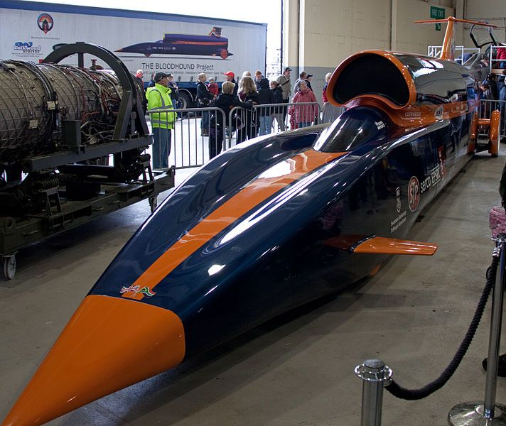 The Bloodhound SSC is a supersonic car currently being engineered to go OVER 1000 mph!