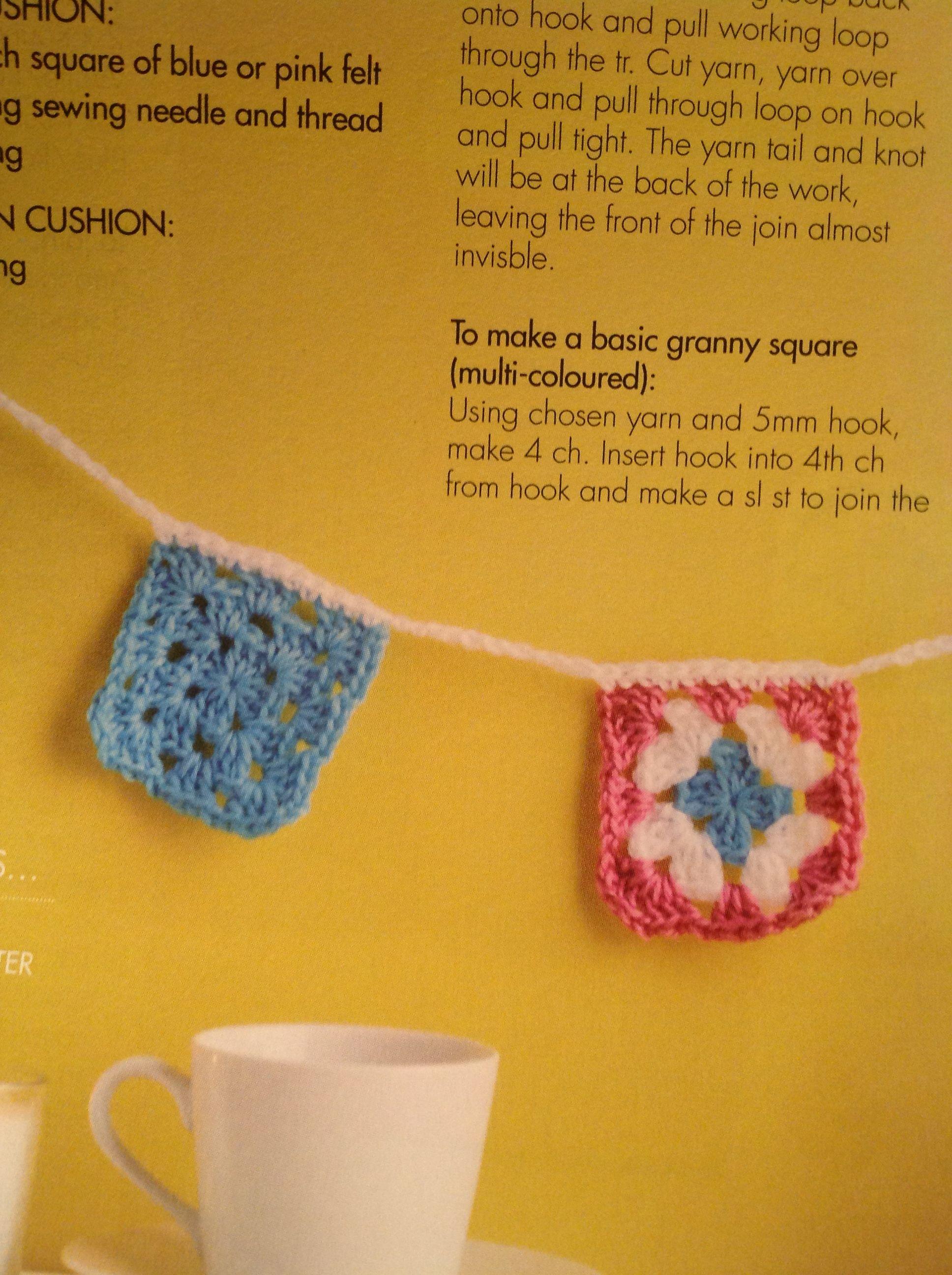 Granny square kit bunting homemaker pretty makes pinterest