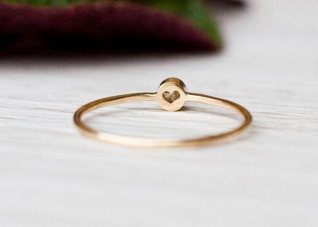 Verlobungsringe 0 03ct Diamant Verlobungsring In 14k Gold Ehering