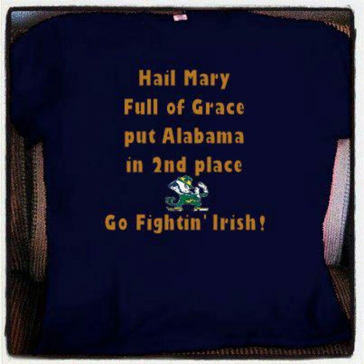 Hail Mary Full of Grace Let Notre Dame Take First Place