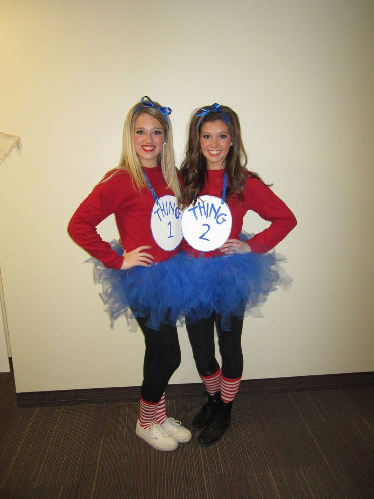 thing one and thing two halloween costume for best friends - Matching Girl Halloween Costume Ideas