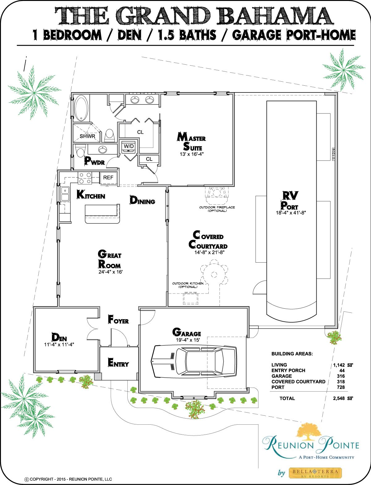 Reunion pointe features four rver designed floor plans for Search floor plans by features