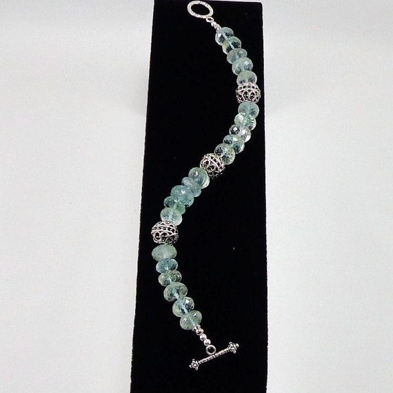 Aquamarine Bracelet/ something blue/ blue/ by angelovajewelry