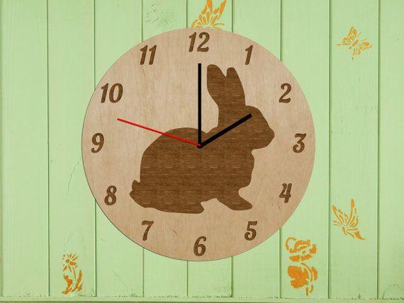 Round Clock_Modern Wall Clock_Children Clock_Rustic by ErdraWood