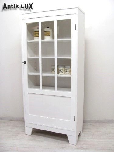 jugendstil vitrine shabby chic weiss vintage schrank um. Black Bedroom Furniture Sets. Home Design Ideas
