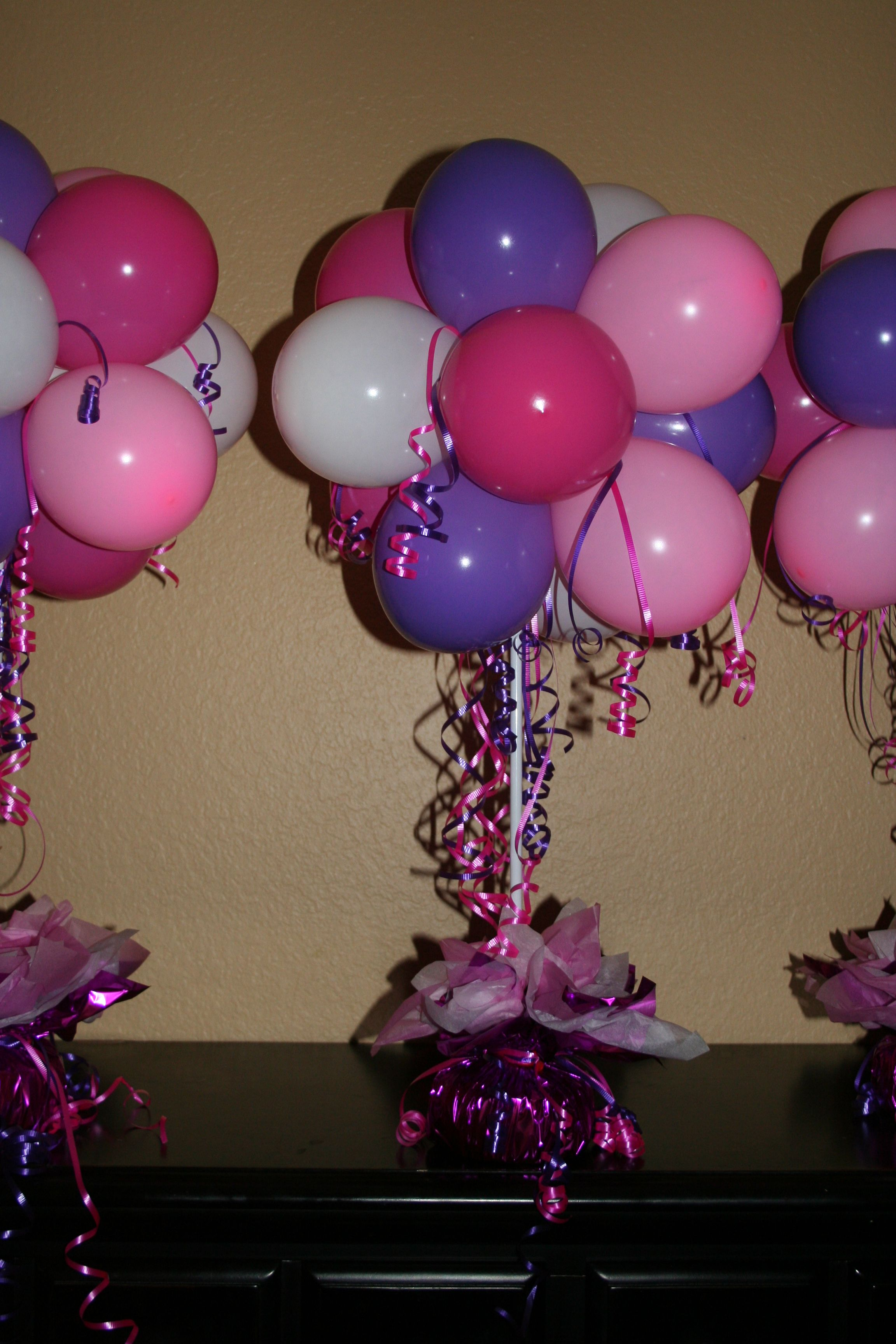 Balloon table centerpiece party pinterest