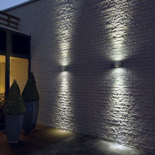 Flush outdoor wall lights are perfect to go on the big empty wall