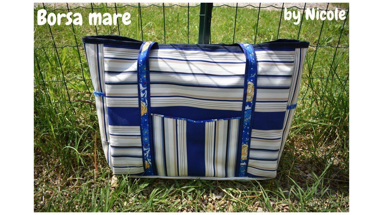 Come realizzare una borsa mare How to sew a tote bag