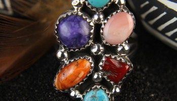 Rainbow Cluster Ring by Roberta Begay 7.5