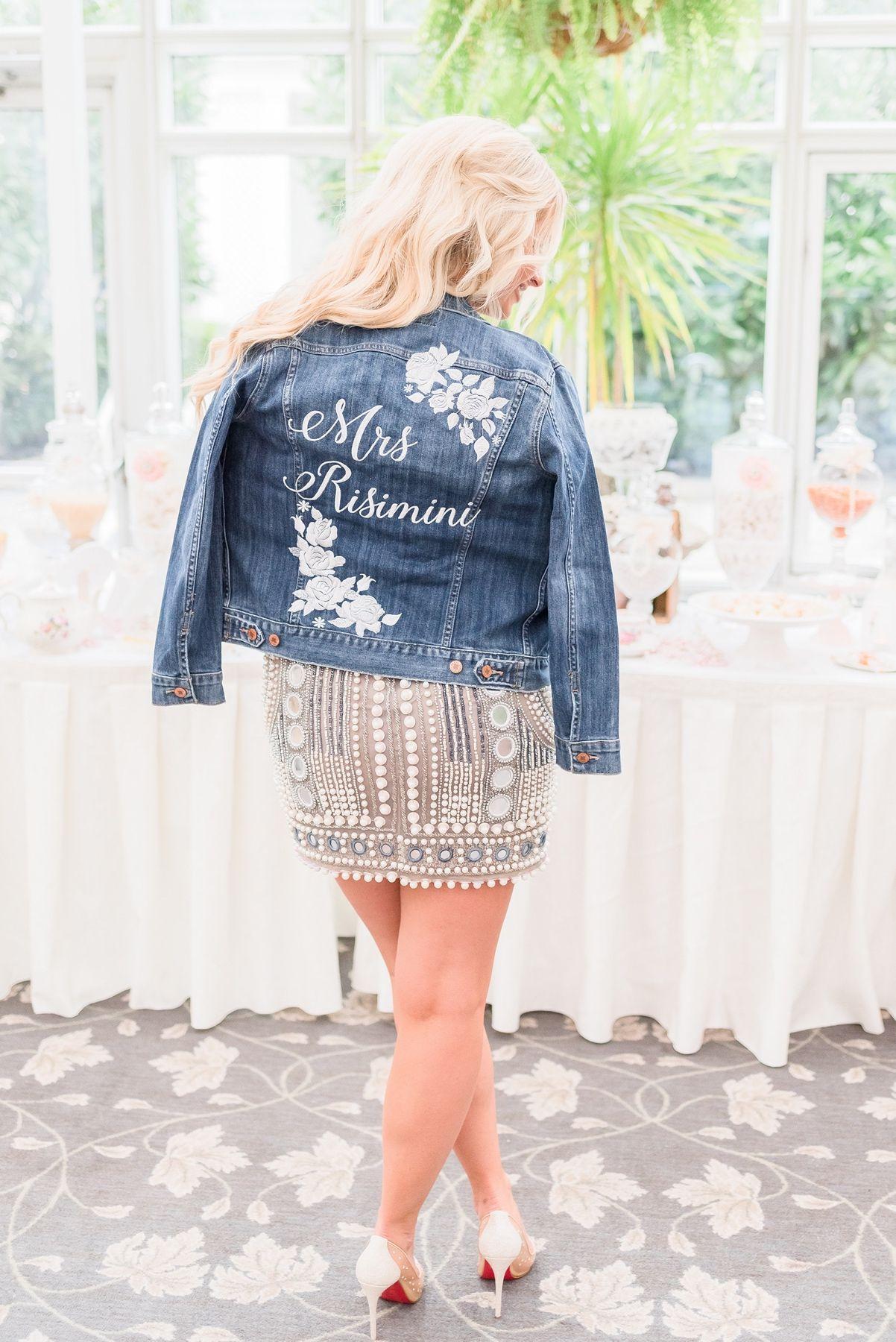 Denim Jacket For The Bridal Shower Party Jackets Denim Jean Jacket Lucky Brand [ 1800 x 1202 Pixel ]